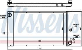 NISSENS 60773 - BMW E60 520D-530D 02-