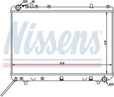 NISSENS 61675 - DAEWOO MUSSO 2 3-3 2 -THERMO