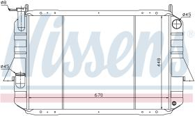 NISSENS 62915 - RADIADOR NISSAN PATROL(160,260)(79-