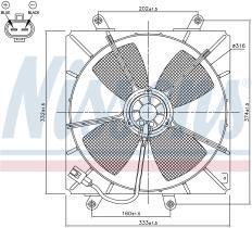 NISSENS 85000 - VENTILADOR TOYOTA CARINA E(T19#)(92