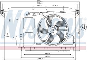 NISSENS 85007 - VENTILADOR PEUGEOT 206(2)(98-)1.1 I
