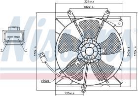 NISSENS 85012 - VENTILADOR TOYOTA AVENSIS(T22#)(97-