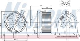 NISSENS 87022 - VENTILADOR SEAT AROSA(6H)(97-)1.4 I