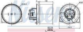 NISSENS 87026 - VENTILADOR SAAB 9-5(YS3E)(97-)2.0 I