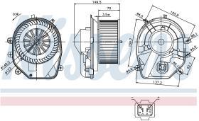 NISSENS 87030 - VENTILADOR SKODA SUPERB I(3U)(02-)2