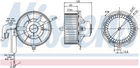 NISSENS 87031 - VENTILADOR SEAT AROSA(6H)(97-)1.4 I