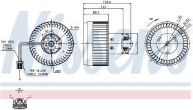 NISSENS 87036 - VENTILADOR VOLVO XC 70(00-)2.4 D