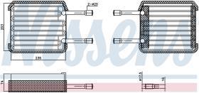 NISSENS 92017 - EVAPORADOR FORD COUGAR(MC)(98-)2.0