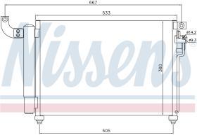 NISSENS 940003 - CONDENSADOR KIA RIO II(JB)(05-)1.5