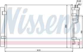NISSENS 940006 - CONDENSADOR HYUNDAI I30(FD)(07-)2.0