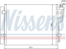 NISSENS 940007 - CONDENSADOR HYUNDAI I30(FD)(07-)1.6