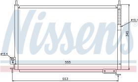 NISSENS 940008 - CONDENSADOR HONDA CIVIC VII(EM,EP,E