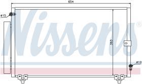NISSENS 940013 - CONDENSADOR TOYOTA COROLLA(E12#,E13