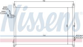 NISSENS 940014 - CONDENSADOR INFINITI M 35