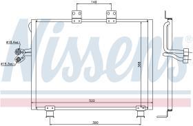 NISSENS 940017 - CONDENSADOR JEEP WRANGLER(TJ)(97-)2