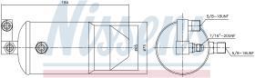 NISSENS 95010 - RECEIVER DRYER PEUGEOT E7-EUROCAB(2