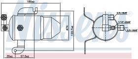 NISSENS 95011 - RECEIVER DRYER PEUGEOT 306(7_,N_)(9