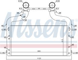 NISSENS 96083 - INTERCOOLER DAF CF(13-)290