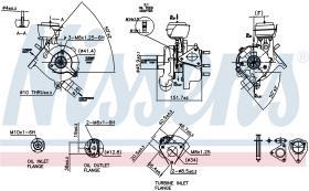 NISSENS 93038 - TURBO SKODA SUPERB I(3U)(02-)1.9 TD