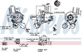 NISSENS 93042 - TURBO KIA SORENTO I(BL)(02-)2.5 CRD