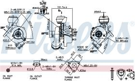 NISSENS 93043 - TURBO SKODA SUPERB I(3U)(02-)1.9 TD