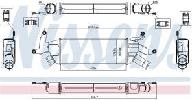 NISSENS 96086 - INTERCOOLER PEUGEOT 4007(GP)(07-)2.