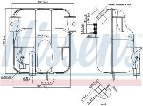 NISSENS 996023 - VASO DE EXPANSION MERCEDES ATEGO 2(