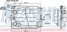 NISSENS 996041 - VASO DE EXPANSION MERCEDES LK(84-)1