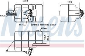 NISSENS 996045 - VASO DE EXPANSION MAN F 2000(94-)V-
