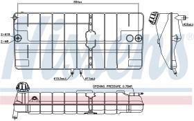 NISSENS 996051 - VASO DE EXPANSION MERCEDES LK(84-)8