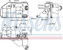 NISSENS 996061 - VASO DE EXPANSION RVI-RENAULT TRUCK