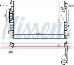 NISSENS 96045 - JAGUAR XF (X250) (08-) 2.7 D, INTERCOOLER
